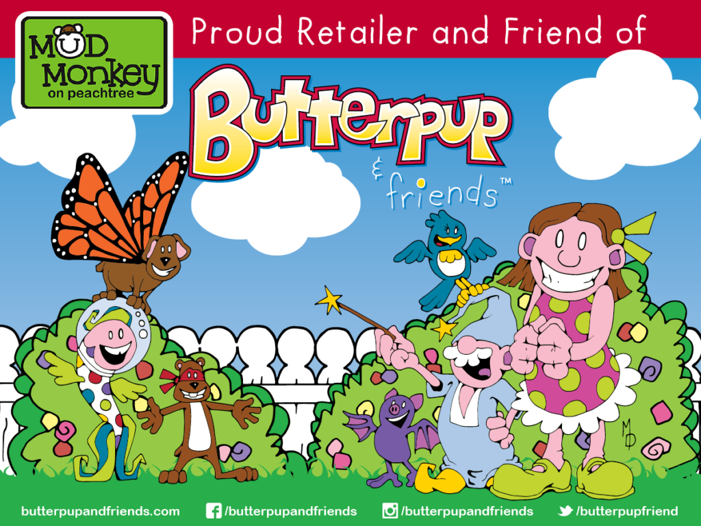 Butterpup & friends Now Available at Mud Monkey